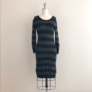 French Connection Stripe Long Sleeve Sweater Dress